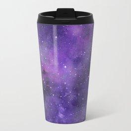 Purple Watercolor Space Pattern Travel Mug