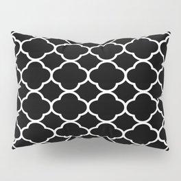 Black & White Moroccan Quatrefoil Design Pillow Sham