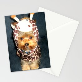 Dog | Happy Giraffe | Yorkie Puppy | Dogs | Puppies | Pets Stationery Cards