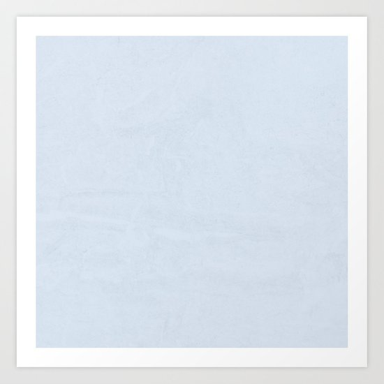 Simply Sky Blue Art Print