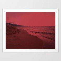 Dreamscape red Art Print