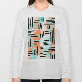 Linear Abstract Long Sleeve T-shirt