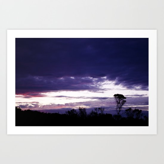 Hamptons Sunset Art Print