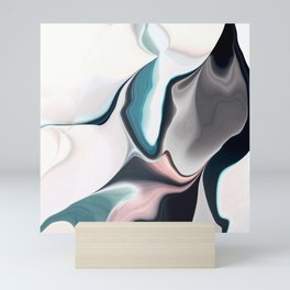 Abstract Subdued Pastel Color Flow Mini Art Print