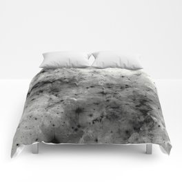 Space Without Colour - Black And White Painting Comforters