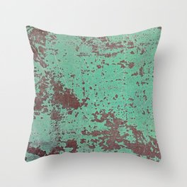 Copper Rusty Surface Throw Pillow