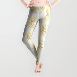 Elegant faux gold pineapple pattern Leggings
