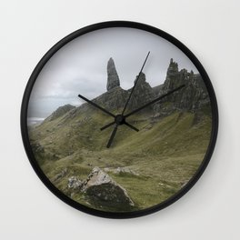 The Old Man of Storr - Landscape Photography Wall Clock