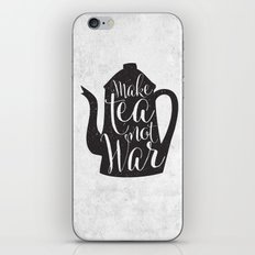 Make Tea Not War iPhone & iPod Skin