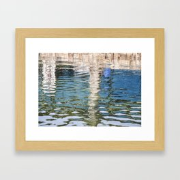 Reflecting Blues Framed Art Print