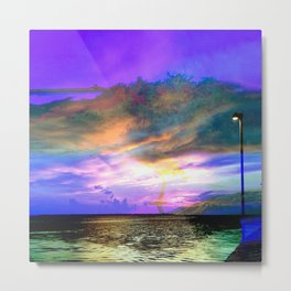 super color sunset at Anclote Pier Metal Print