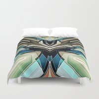 mask Duvet Covers featuring Mask by Fringeman
