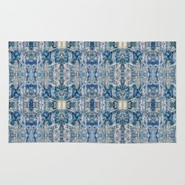 Sand and Stone Blue Pattern Design Abstract Rug