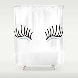 Open Eyelashes Shower Curtain