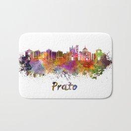 Prato skyline in watercolor Bath Mat