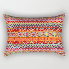 India Style Pattern (Multicolor) Rectangular Pillow