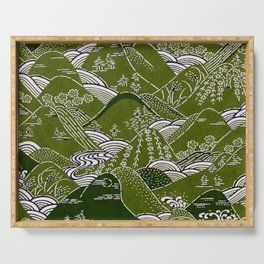 Japanese Mountains (green) Serving Tray