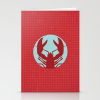 lobster Stationery Cards featuring Lobster by Mr and Mrs Quirynen