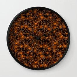Spooky Spider Webs Wall Clock