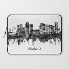 Brasilia Brazil Skyline BW Laptop Sleeve