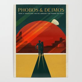SpaceX Mars tourism poster / DP Poster