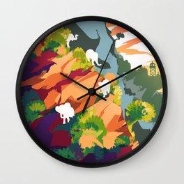 Elephants on the rock Wall Clock