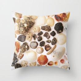 Black and Bone Throw Pillow
