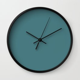 Peony Drama ~ Teal Coordinating Solid Wall Clock