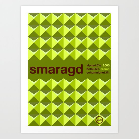 smaragd single hop Art Print