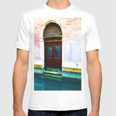 Front Lawn MEDIUM White Mens Fitted Tee