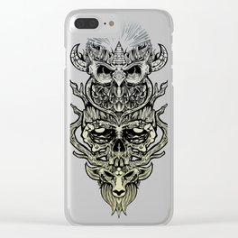 Peace in Chaos Clear iPhone Case