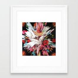 Floral Glitch II Framed Art Print
