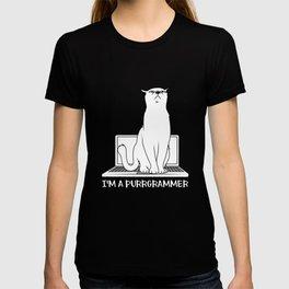 Purrgrammer Programmer Cat Software Engineer Developer Computer Science T-shirt