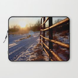 Winter on the Farm Laptop Sleeve