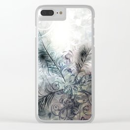 Fashion feather pattern Clear iPhone Case
