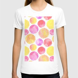 Yellow Red Purple Fireworks T-shirt