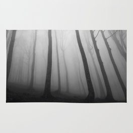 The Eerie Forest (Black and White) Rug