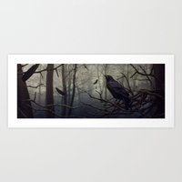 raven Art Prints featuring Raven by Raven-Art
