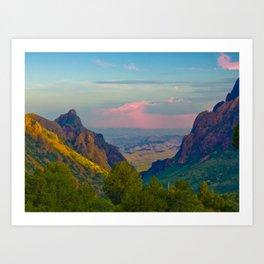 Chisos Mountain Park Big Bend Texas Art Print