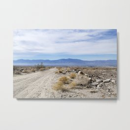 Early morning in the desert Metal Print