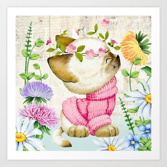 Sweet animal #1 Art Print