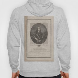 King Charles I. Engraving by A.L. Romanet after I.J. van den Berghe after A. van Dyck. 1599-1641 Hoody