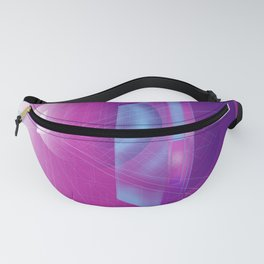 Geometric Abstract Minimal Oval Retro Perspective Fanny Pack