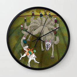 Amaterasu vs Ninetails Wall Clock