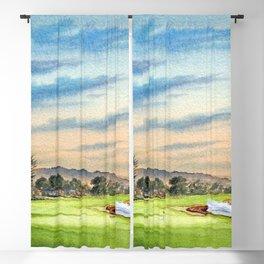 Pebble Beach Golf Course 18th Hole Blackout Curtain