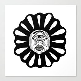 THIRD EYE FLOWER Canvas Print