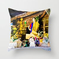 colombia Throw Pillows featuring Colombia diverse. by Alejandra Triana Muñoz (Alejandra Sweet