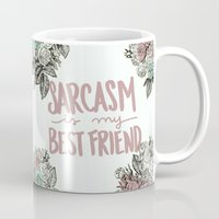 sarcasm Mugs featuring Sarcasm by Sarah Brust