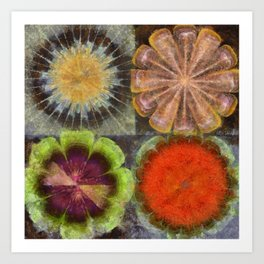 Uniteable Formation Flower  ID:16165-084538-89880 Art Print