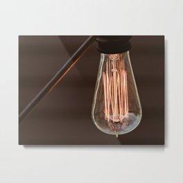 Edison Light Bulb LBI Metal Print